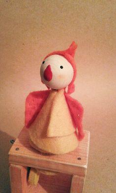 Hand Made Orange Angel Wooden and Felt Automaton от StuffJoyRu