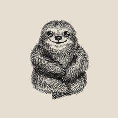 Sloth by Igor Serazetdinov #sloth #artprint #illustration