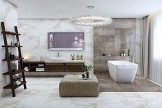 NÁVRH KÚPEĽNE - Fotogaléria, šikovné riešenia kúpeľní / BENEVA Bathroom Vanity Decor, Bathroom Interior Design, Bathroom Lighting, Dream Bathrooms, Beautiful Bathrooms, Michael In The Bathroom, Bathtub, Bathroom Light Fittings, Standing Bath