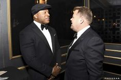 LL Cool J and James Corden - Charles Sykes/Invision for the Television Academy/AP Images Ll Cool J, Donald Glover, Big Little Lies, See On Tv, Celebs, Celebrities, Stunning Dresses, Cool Pictures, Photo Galleries