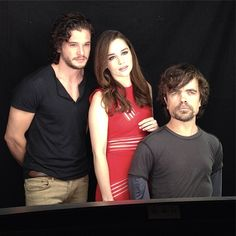 Game of Thrones — Kit Harington, Emilia Clarke, and Peter Dinklage