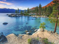 5 hidden beaches at Lake Tahoe Places To Travel, Places To Visit, Skier, Hidden Beach, All Nature, Nature Pictures, Beautiful Landscapes, Strand, Trip Planning