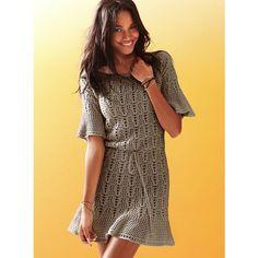 Victoria's Secret Flutter-Sleeve Crochet Dress found on Polyvore
