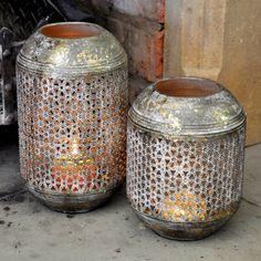 Metal Drum Lantern