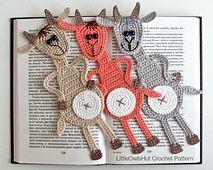 Ravelry: 063 Goat Bookmark pattern by LittleOwlsHut #goatvet likes this pattern