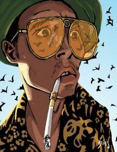 Fear and Loathing in Las Vegas <3.  Johnny Depp ilusstration<3.    good movie ye
