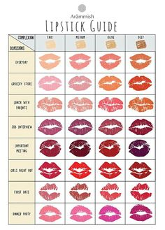 Lip colors for permanent makeup touchup