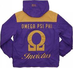 Big Boy Omega Psi Phi Divine 9 Hooded Mens Windbreaker Jacket [Purple - M] Divine Nine, Omega Psi Phi, Eastern Star, Mens Windbreaker, Fraternity, Big Boys, Team Logo, Hoods, Blazer