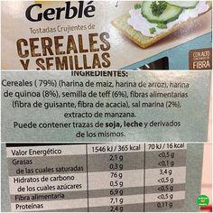 💁🏼TOSTADAS CRUJIENTES DE CEREALES Y SEMILLAS @gerble_es.  .  👉🏻Sal: 0,11 gramos por tostada.  .  📝Supermercado: @gadis.supermercados.  💵P.V.P: 2,29 euros.  .  📸 @cambiahabitosyganasalud.  .  #lacestadefranitagadis #healthyfranita #followme #follow #like4like #supermercado #basicos #tostadas