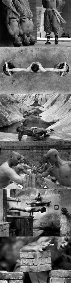 How Shaolin Monks Train For Martial Arts... Not sure if this is actually vintage, but soooo cool!