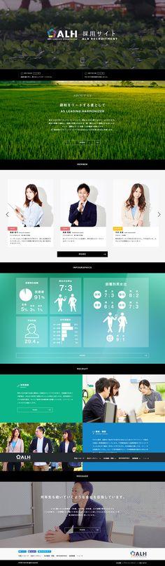 ALH+株式会社様の「ALH採用サイト」のランディングページ(LP)かっこいい系|求人・採用関連