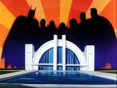 The Hall Of Justice // artwork by Hanna-Barbera Studios (1973)