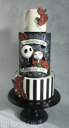 we're simply meant to be: nightmare before christmas wedding cake - thatbakinggirl, facebook