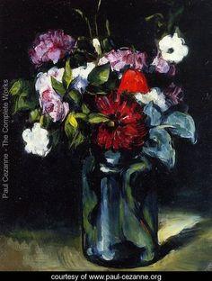 Flowers In A Vase - Paul Cezanne - www.paul-cezanne.org