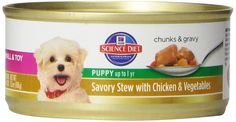Hill's Science Diet Puppy Small and Toy Savory Stew Chicken and Vegetables Wet Dog Food, 5.5-Ounce Can, 24-Pack >>> For more information, visit now (This is an amazon affiliate link. I may earn commission from it)