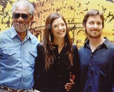 Batman Begins Photo Morgan Freeman, Christian Bale, Katie Holmes