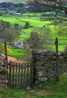 Country stone fence