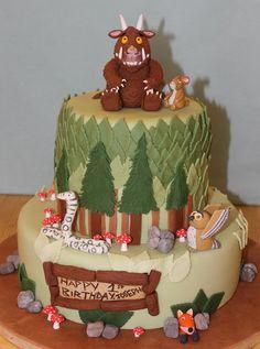 Gruffalo and friends 1st Birthday  Cake by Cake Creations By Hannah 4th Birthday Cakes, 2nd Birthday, Birthday Ideas, Happy Birthday, Gruffalo Party, Cupcake Cakes, Shoe Cakes, Cupcakes, Novelty Cakes