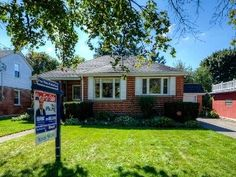 LOVELY ALL BRICK BUNGALOW! This beautiful and exceptionally well kept home features three bedrooms, two bathrooms, spacious and bright kitchen, formal dining room, large living room. Bright Kitchens, Bungalow, Brick, Bathrooms, Shed, Dining Room, Real Estate, Outdoor Structures, Homes