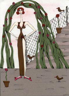 """collage """"donnina nella capannina di rose"""""""