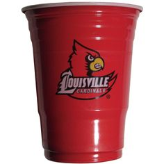 Louisville Cardinals Plastic Game Day Cups
