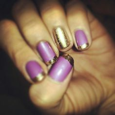 Purple and gold! Nail polish colors by Sally Hansen