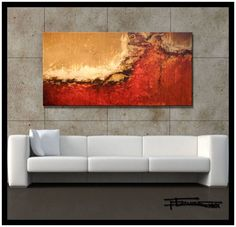 Modern Abstract Canvas Wall Art-LIMITED EDITION - Hand embellished, textured, abstract painting. Giclee on Canvas. Ready t... $175.00