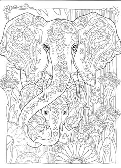 Mandala Coloring Pages Pattern Doodle Adult Sheets Animal Books Colouring