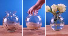Zit jij ook vaak te peuteren en prutsen om de kalkaanslag of vuil in een fles of vaas eruit te krijgen?