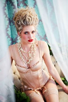 Marie Antoinette + Sexy Lingerie = This Picture!