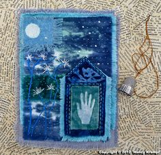 Art Quilt Spirit House of  Moonflowers by HappyArtHappyScience, $45.00
