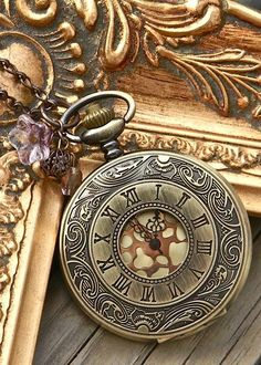 Pocket watch necklace!