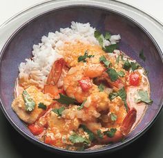 Thai red curry paste, unsweetened coconut milk, and fish sauce are available in the Asian foods section of most supermarkets. Serve this curry over steamed jasmine rice. Quick Recipes, Fish Recipes, Seafood Recipes, Asian Recipes, Cooking Recipes, Healthy Recipes, Ethnic Recipes, Asian Foods, Healthy Food