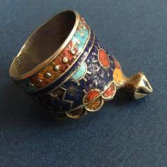 PAKISTANI, MULTAN ENAMELLED RING