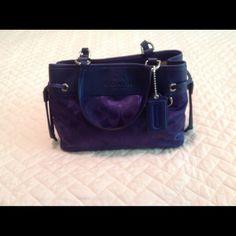 Coach purse Blue purse with silver-color accents Bags Mini Bags