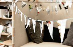Una semplice ghirlanda per le vostre feste in casa.