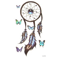 Romantic Dreamcatcher Temporary Tattoo sticker Feather Tattoo Decals Body Art Waterproof Paper fake tattoo flash tattoo #>=#>=#>=#>=#> Click on the pin to check out discount price, color, size, shipping, etc. Save and like it!