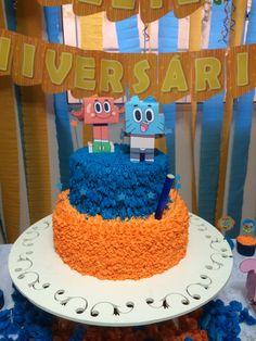 8th Birthday, Birthday Parties, Birthday Cake, Cartoon Posters, World Of Gumball, Party Themes, Party Ideas, Yummy Food, Samara