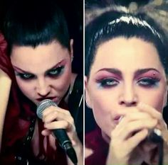 Amy Lee Going Under music video Goth Beauty, Dark Beauty, Double Heart Emoji, Ben Moody, Bring Me To Life, Amy Lee Evanescence, Goth Makeup, Iron Maiden, War Paint