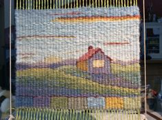 Category: Tapestry - a field guide to needlework great lesson on value and its importance Pin Weaving, Navajo Weaving, Weaving Art, Tapestry Weaving, Loom Weaving, Basket Weaving, Painted Warp, Small Tapestry, Loom Craft