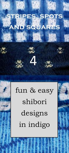 A blog to introduce you to making some simple patterns in shibori