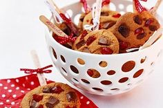 Choc-cherry lollipop biscuits main image