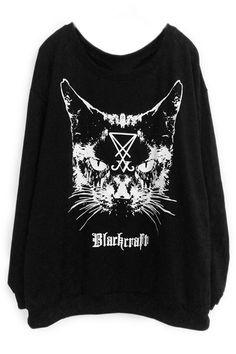 Liquorbrand Satanic Cats Leggings Inverted Cross Cult Kitty Emo