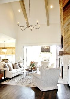 The Tour of the House That Photographed Itself. I love this living room. So rustic and beautiful.