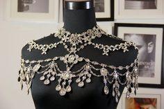 Luxuriöse Kette Crystal Schulter Kette Halskette sexy Braut-Schmuck Partei chain