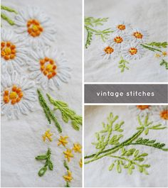 VINTAGE STITCHES ... I think @Marianne Celino Flythe will like this. I couldn't do a French knot to save my soul, though. lol