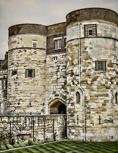 Byward Tower, one of the towers of the Tower of London in England by Heather Applegate Tower Of London, British Isles, Tudor, Towers, Medieval, England, Mansions, House Styles, Travel