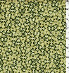 Japanese Asian Quilting Fabric - Oriental Traditions - Ornate Bow Tie - Green
