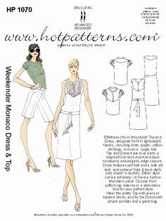 Hot Patterns 1070 - Weekender Monaco Top & Dress