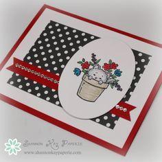 Stampin Up Pretty Kitty Card Idea - Shannon Jaramillo Stampinup